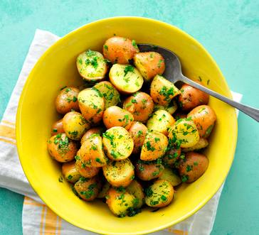 Boiled Potatoes with Herb Butter image