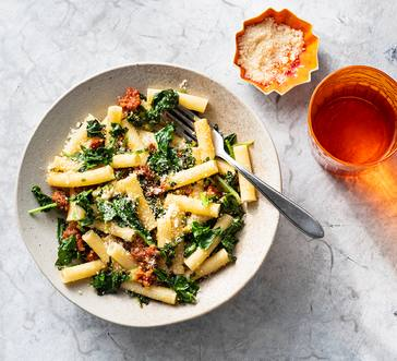 Rigatoni with Chorizo and Wilted Greens image