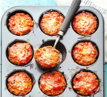 Salsa Turkey Meatloaf Muffins image