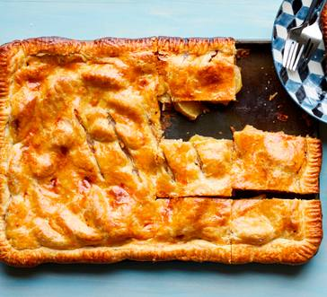 Salted Caramel-Apple Slab Pie image