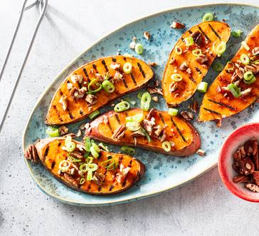 Grilled BBQ-Glazed Sweet Potatoes image