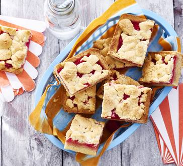 Raspberry-Rhubarb Cookie Bars image