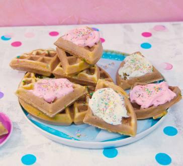 Confetti Cake Waffles image