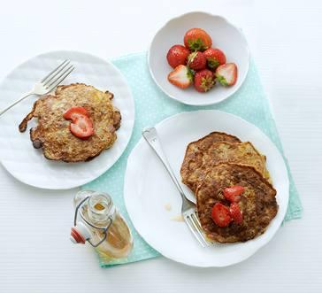 Gluten-Free Pecan-Banana Pancakes image
