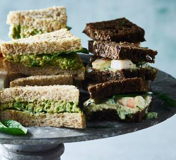 Smashed Avocado and Chickpea Finger Sandwiches image