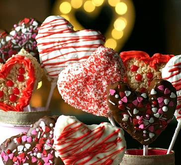 Valentine Heart Rice Krispies Treats image