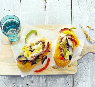 No-Guilt Philly Cheesesteak Sandwich image