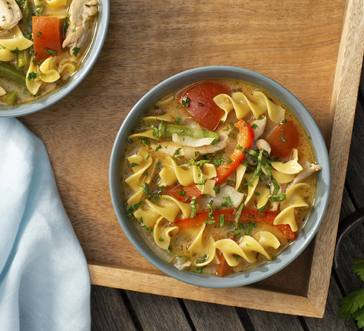 Provencal Veggie Soup with Noodles and Chicken image