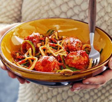 Slow Cooker Meatballs with Veggie Noodles image