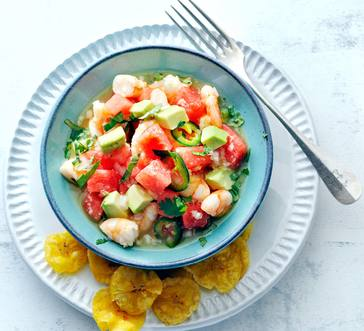 Shrimp Ceviche with Watermelon image