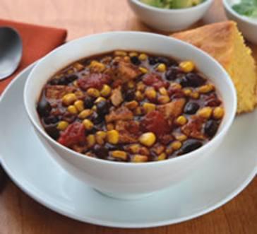 Chicken & Black Bean Chili with Corn image