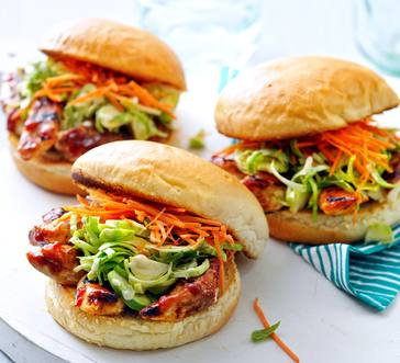 BBQ Chicken Sandwiches with Brussels Sprout Slaw image