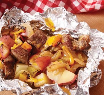 Steak and Pepper Foil Packet image