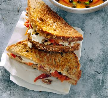 Sun-Dried Tomato and Goat Cheese Grilled Cheese image