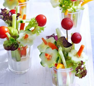 Vegetable Flower Bouquet with Dip image