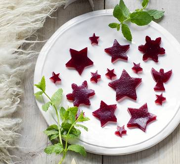 Cranberry Jelly Cutouts image