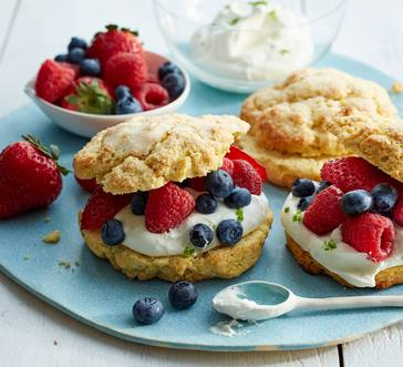 Gluten-Free Mixed Berry Shortcakes image