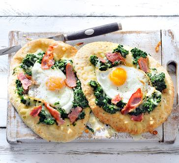 Bacon and Egg Naan Pizzas image