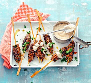 Beef Kabobs with Yogurt Dip image