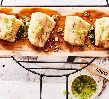 Plank-Grilled Sesame-Glazed Cod image
