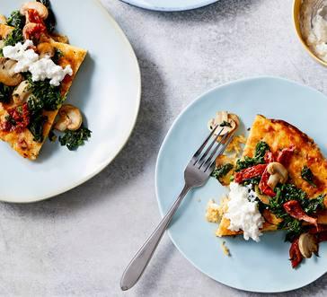 Spinach-Ricotta-Potato Omelet image