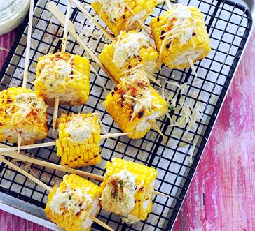 Mexican-Style Grilled Corn Kabobs image