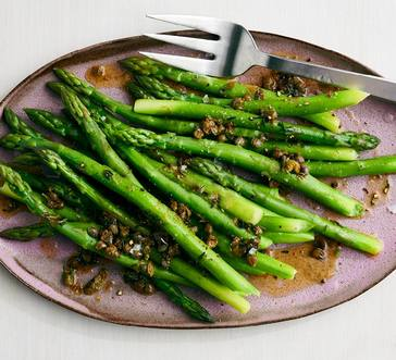 Asparagus with Brown Butter, Capers, and Thyme image