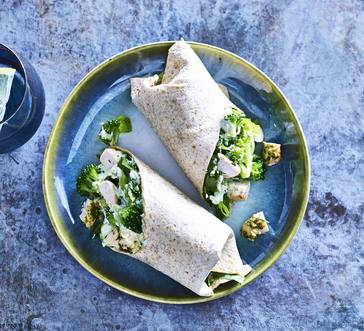 Broccoli and Chicken Wraps image