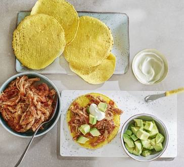 Spicy Pulled Pork Tostadas image