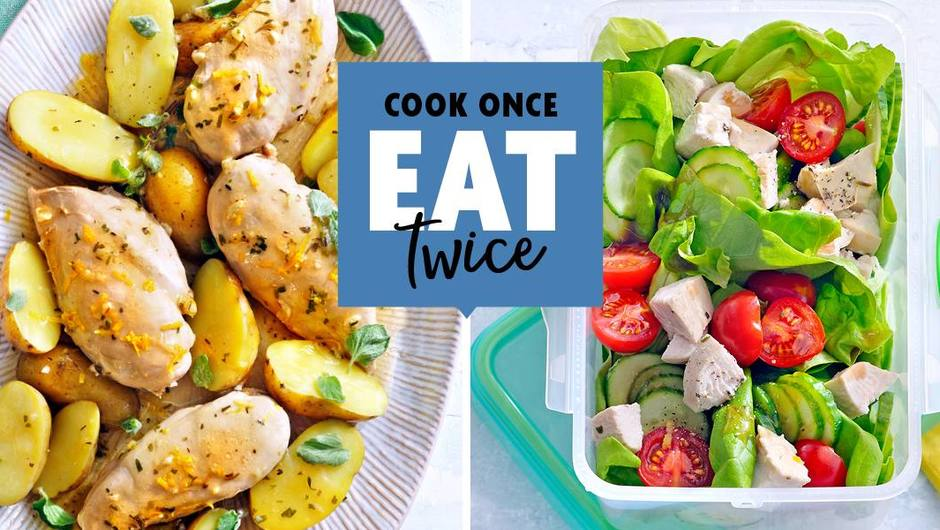 Cook once, Eat twice: Lemony Chicken and Potatoes image