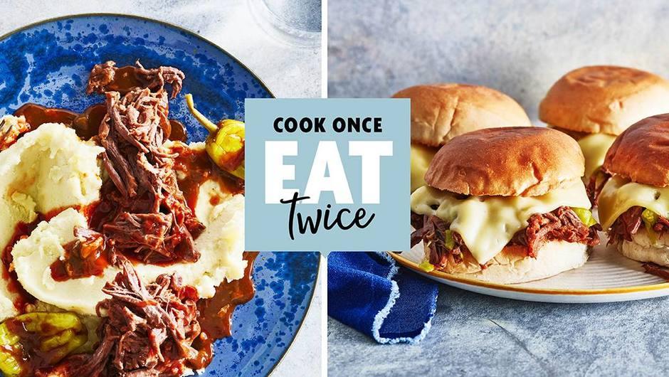 "Cook Once, Eat Twice: Slow Cooker ""Mississippi Roast"" image"