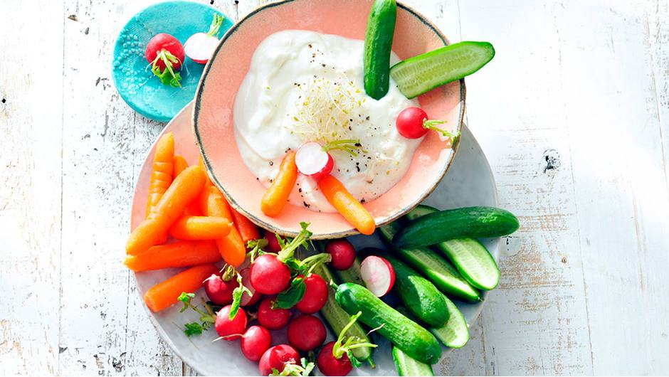 Goat cheese and Honey Dip with Spring Vegetables | Stop ...