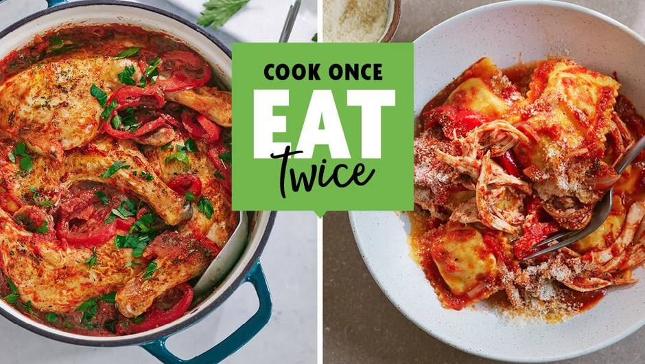 Cook once, Eat twice: Chicken Cacciatore image