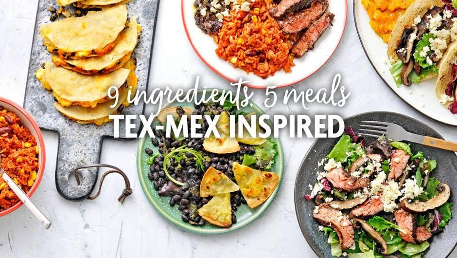 9 Ingredients, 5 Meals: Tex-Mex Inspired Meal Plan image