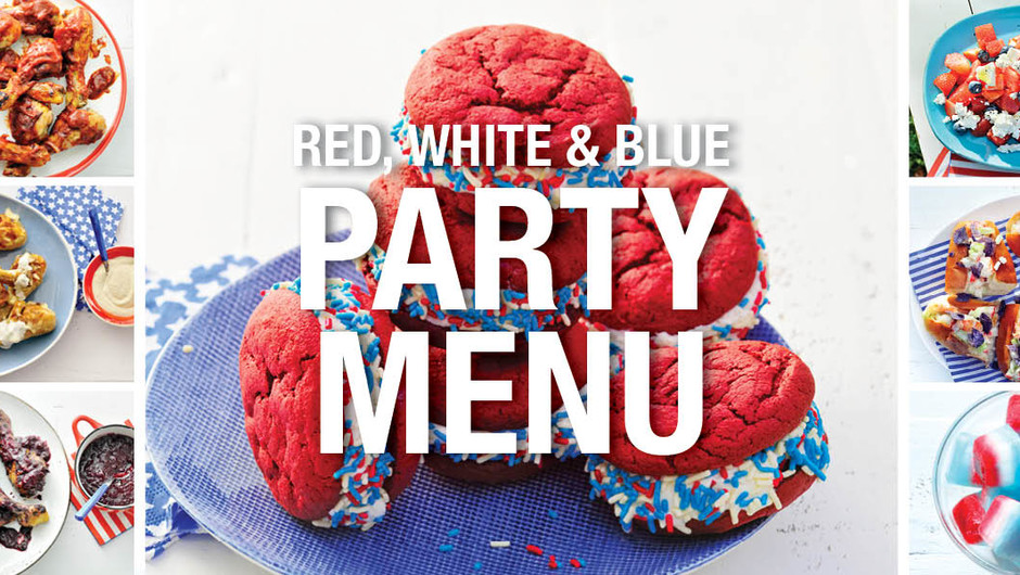 Red, White, and Blue Party Menu image