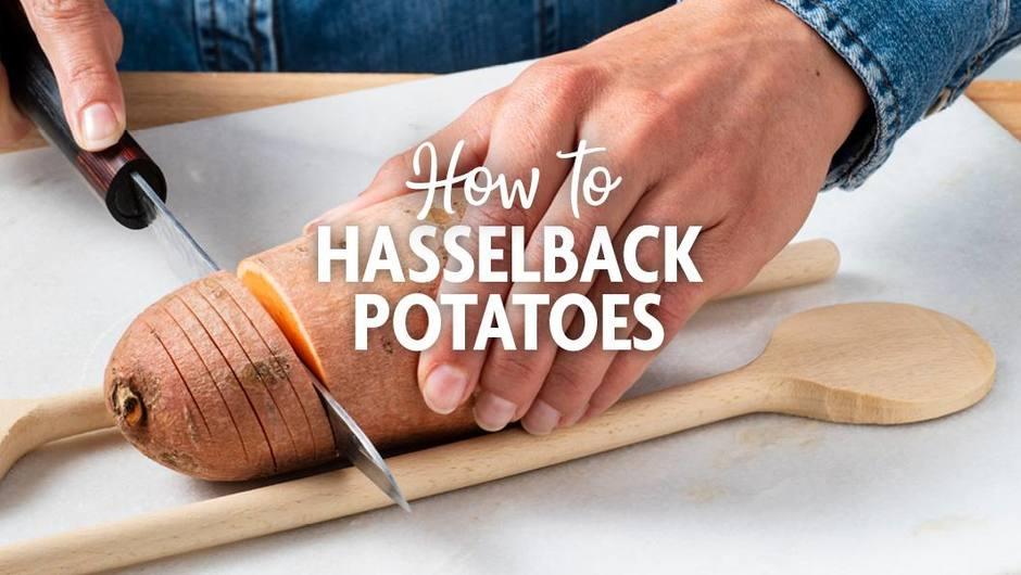 How to cut a Hasselback Potato image