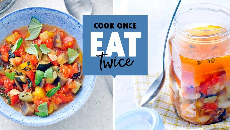 Cook once, Eat twice: Ratatouille Vegetable Stew image