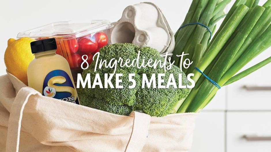 8 Ingredients to Make 5 Meals image
