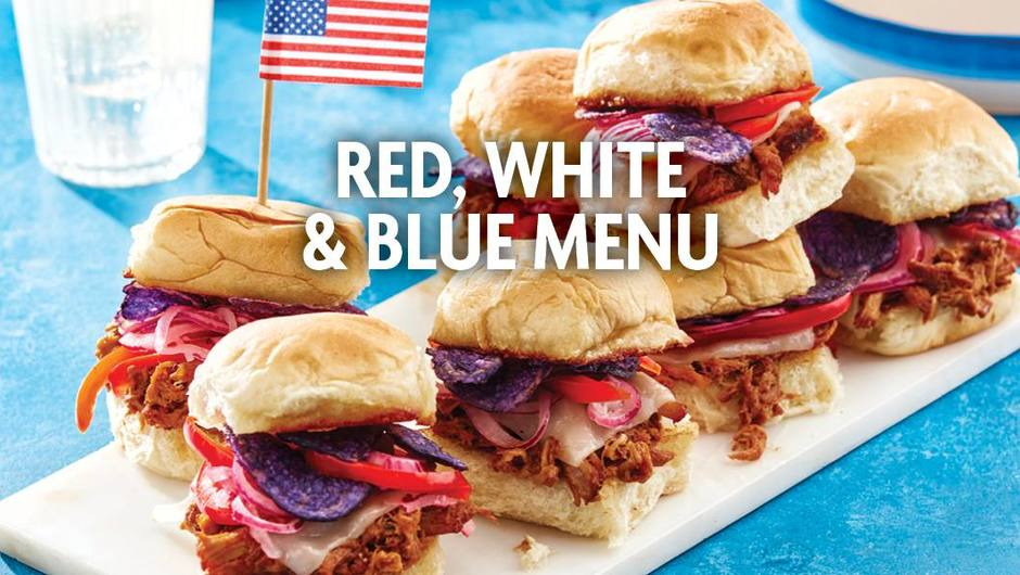 Red, White, and Blue Menu image
