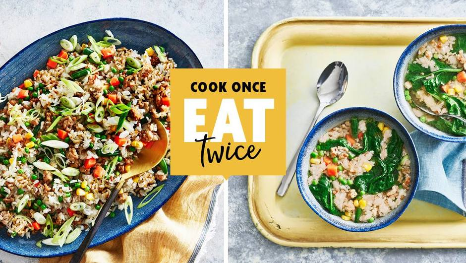 Cook Once, Eat Twice: Ground Turkey Fried Rice image