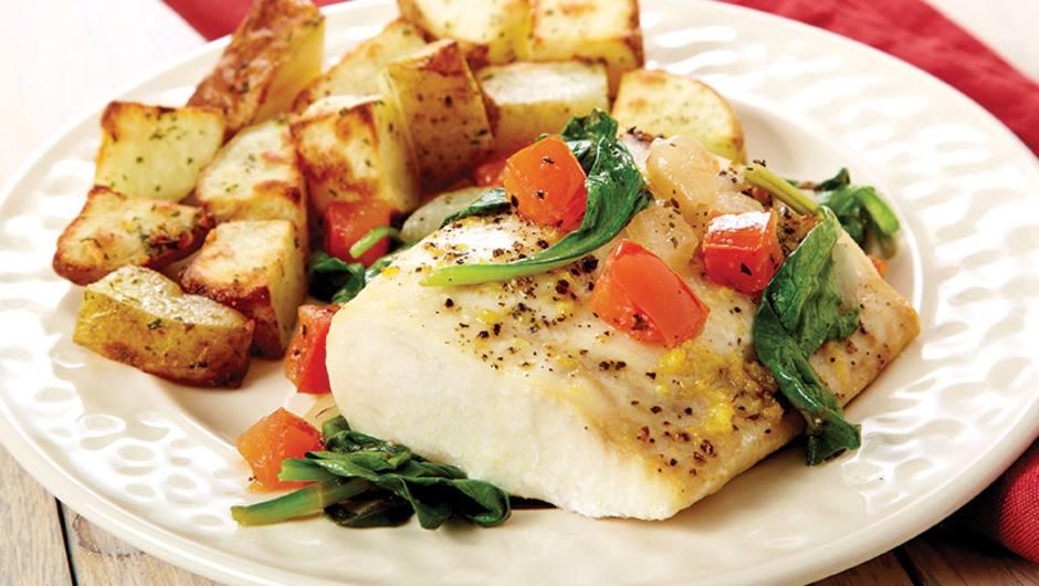 Mahi Mahi With Tomato & Spinach Relish