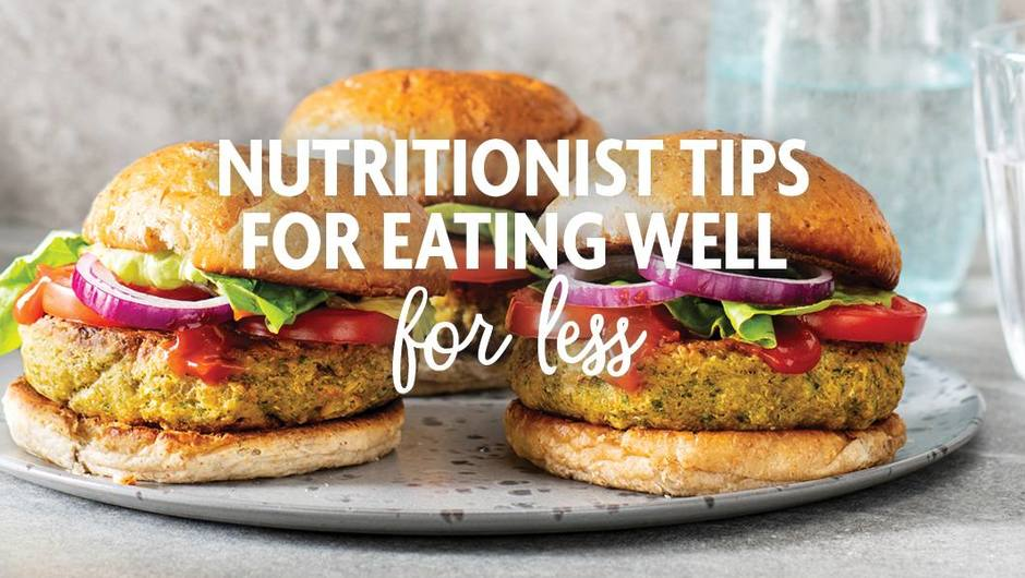Nutritionist tips for eating well for less image