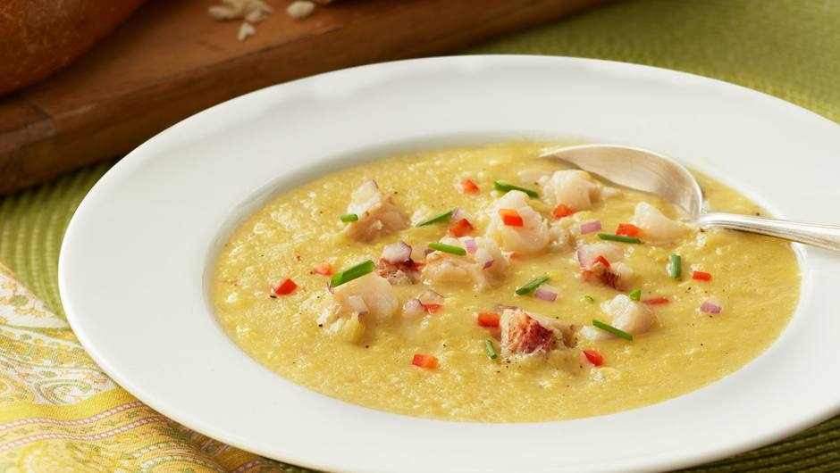 Lobster B Soup Corn Soup with ...