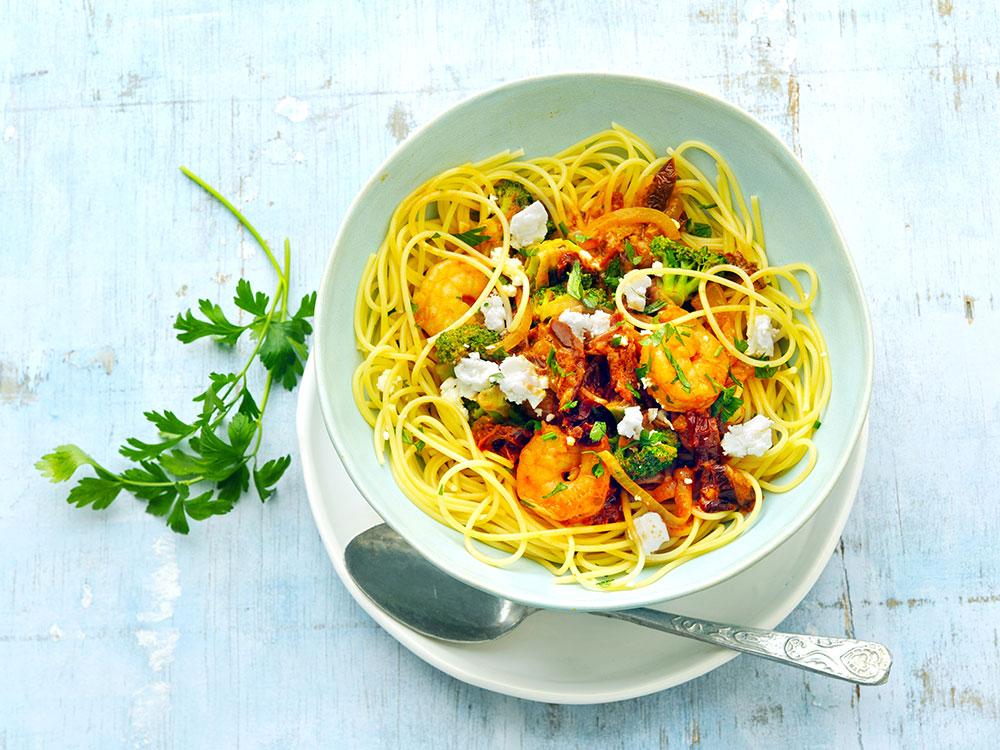 Saucy Roasted Shrimp And Broccoli Pasta Recipes Meals