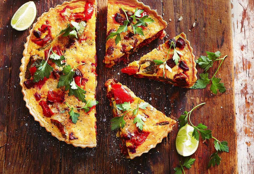 Mexican chorizo quiche
