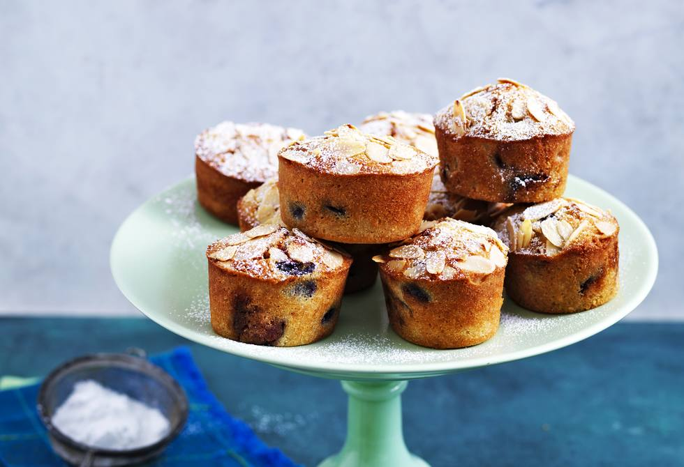 Cherry almond friands