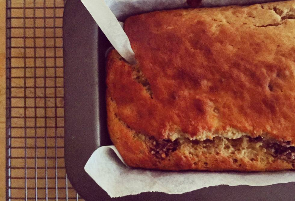 Banana & Easter egg bread