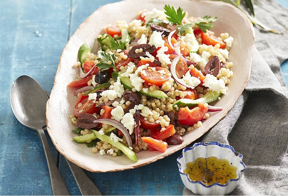 how to make vegetable couscous salad