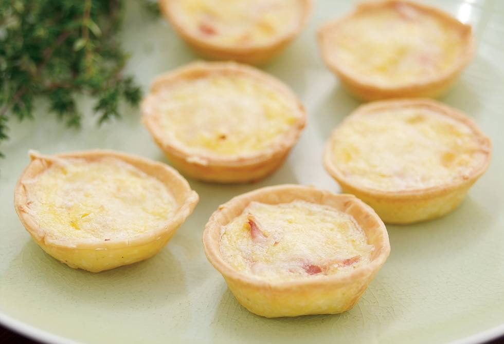 Mini ham quiches