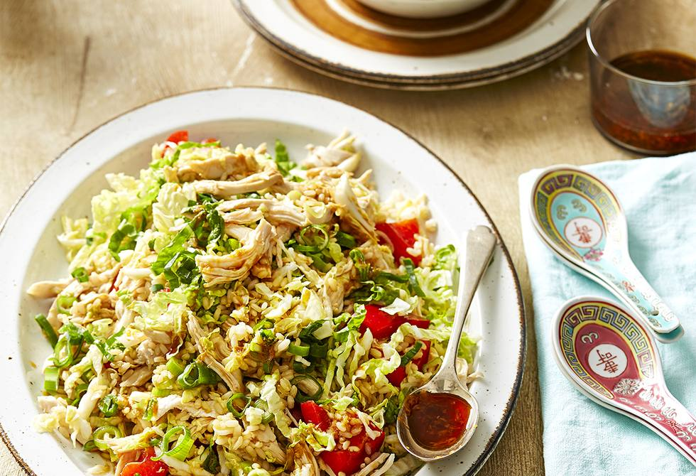 Asian chicken and brown rice salad